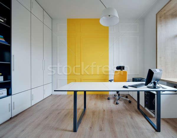 Ofis modern tarzda oda modern duvarlar zemin Stok fotoğraf © bezikus