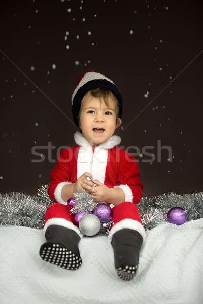 Little Santa Claus Stock photo © bezikus