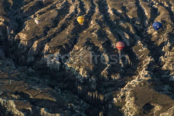 Air balloons above the mountains Stock photo © bezikus
