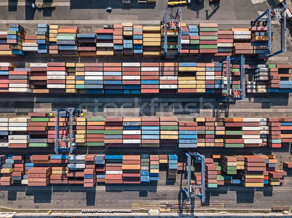 Warehouse with many containers Stock photo © bezikus