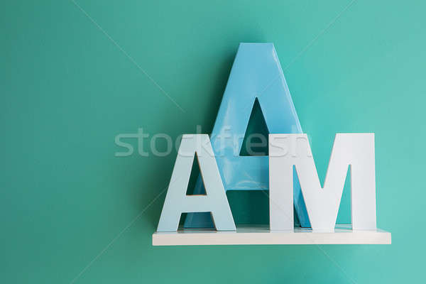 Letters A and M on a white shelf. Stock photo © bezikus