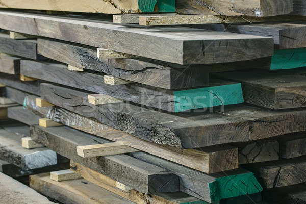 Stock photo: Wooden oak boards