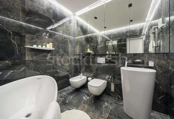 Luxury bathroom in modern style Stock photo © bezikus