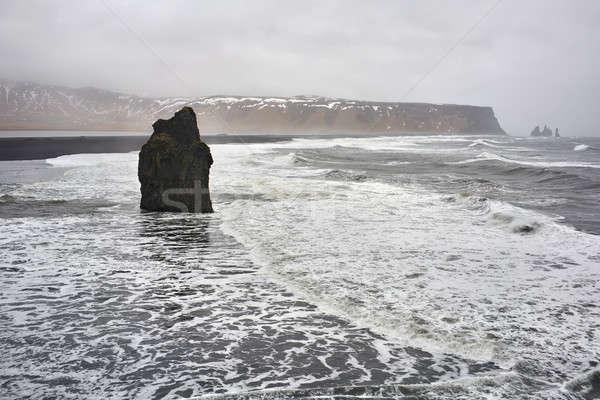 Landschap stormachtig zee bewolkt hemel Stockfoto © bezikus