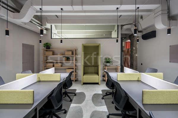 Szép iroda padlás stílus szürke falak Stock fotó © bezikus