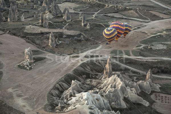 Air balloons on the ground Stock photo © bezikus