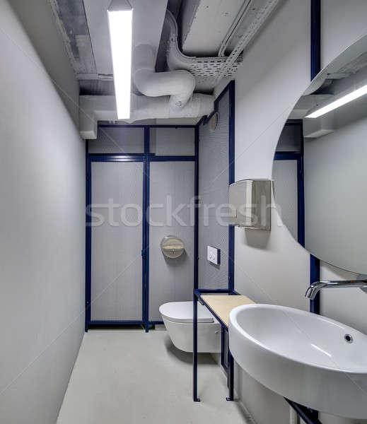 Washroom in loft style Stock photo © bezikus