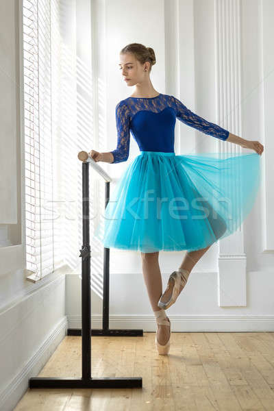 Stockfoto: Ballerina · opleiding · prachtig · teen · ballet