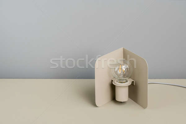 Metal beige edison lamp Stock photo © bezikus