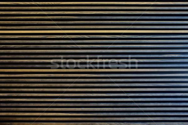 Meşe ince şeritler duvar dekorasyon ağaç Stok fotoğraf © bezikus