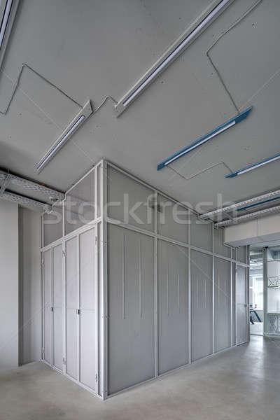 Interieur vliering stijl ruimte grijs Stockfoto © bezikus
