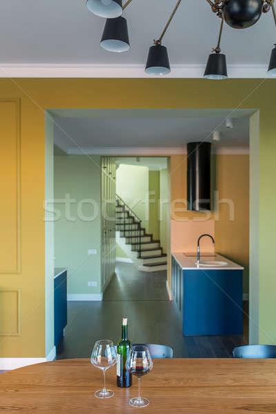 Interieur moderne stijl moderne hal kleurrijk muren Stockfoto © bezikus
