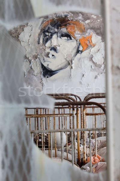 Anaokulu oda kayıp şehir Ukrayna çocuk Stok fotoğraf © bezikus