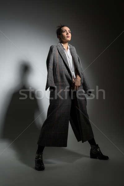 Girl in studio Stock photo © bezikus