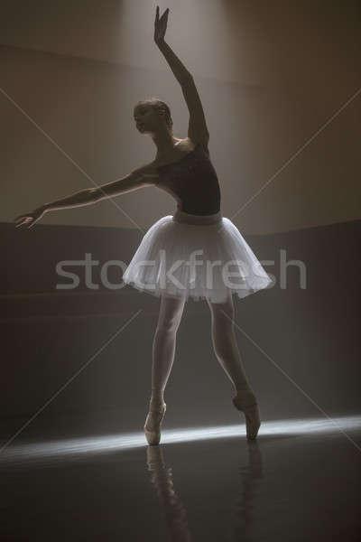 Ballerina in the white tutu Stock photo © bezikus