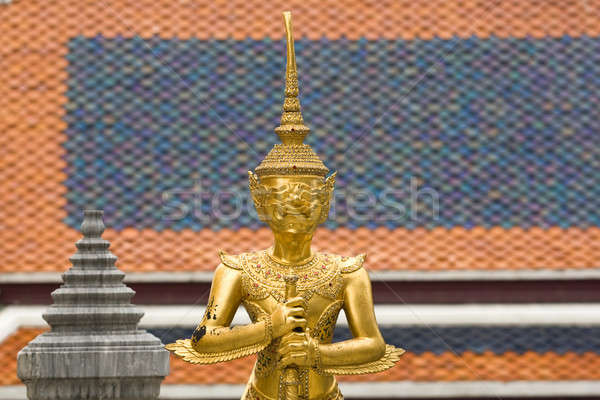 Sculptures of a Buddhist Temple Stock photo © bezikus