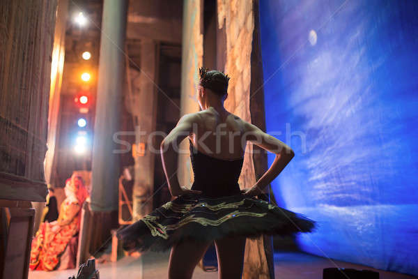Stock photo: Prima ballerina standing backstage