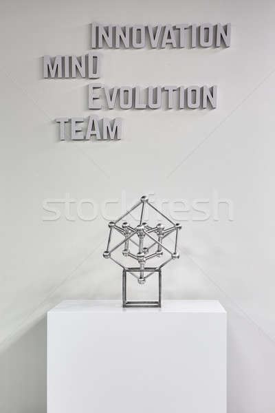 Stand with atom model Stock photo © bezikus