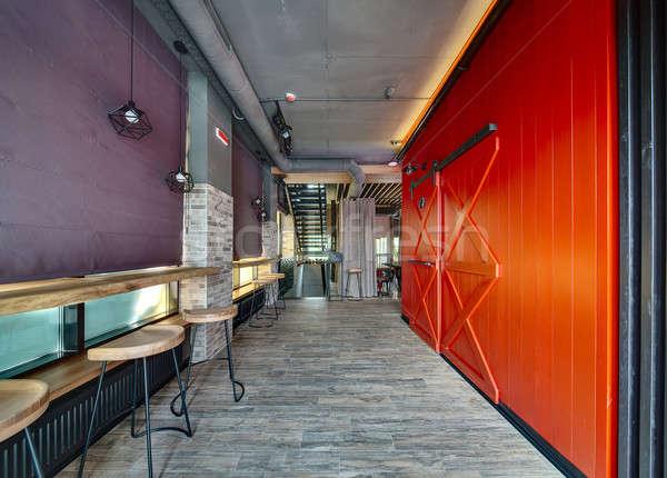 Restaurant in a loft style Stock photo © bezikus