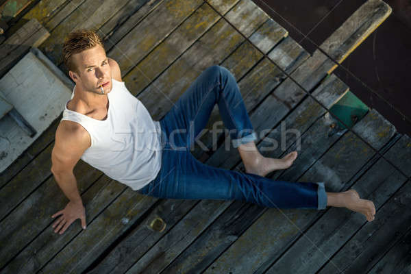 Stylish man outdoors Stock photo © bezikus