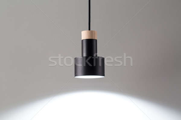 Hanging luminous black lamp Stock photo © bezikus