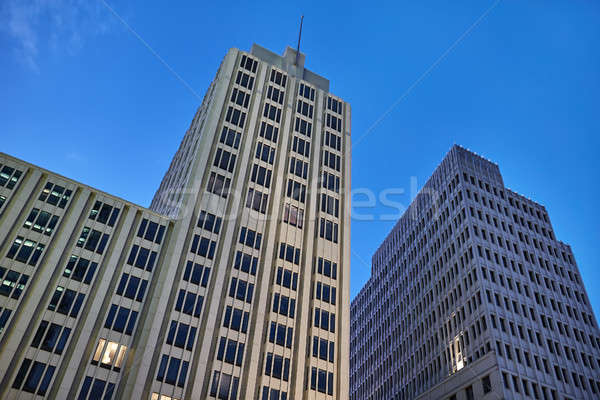 Facades of business buildings Stock photo © bezikus