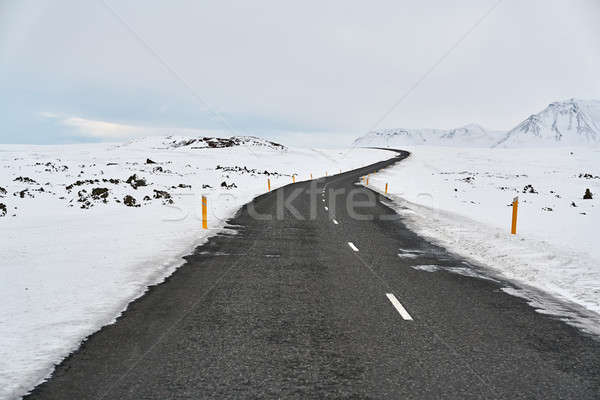 Stock photo: Country roadway in Iceland