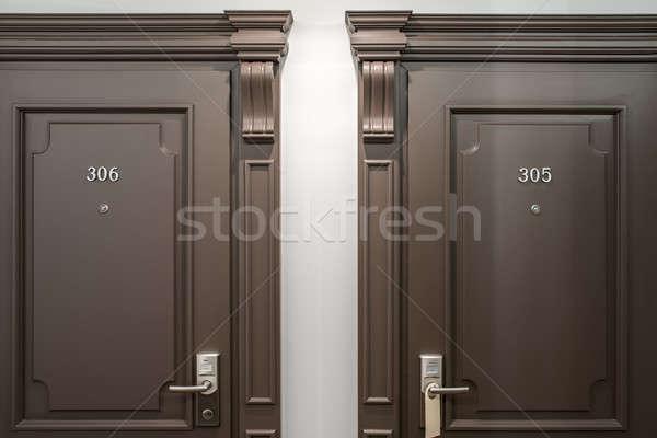 Stylish interior in hotel Stock photo © bezikus