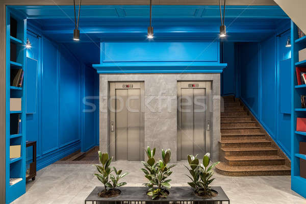 интерьер отель прихожей синий Сток-фото © bezikus
