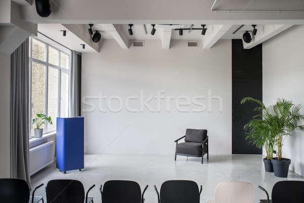 Zdjęcia stock: Nice · wnętrza · strych · stylu · szary · ściany