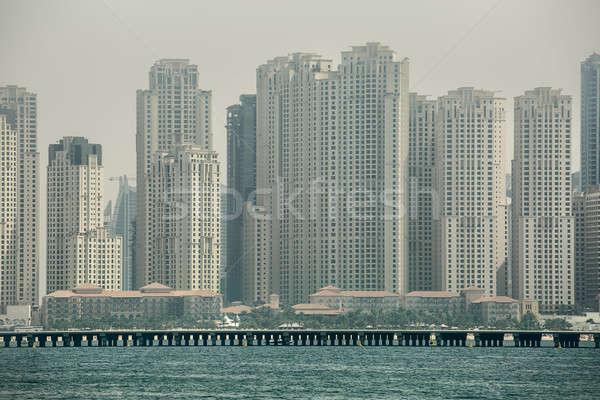 üzlet központ Dubai tenger tengerpart Stock fotó © bezikus