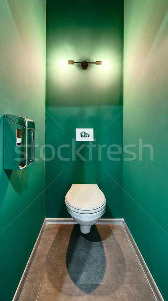 туалет зеленый воды шкафу белый Сток-фото © bezikus