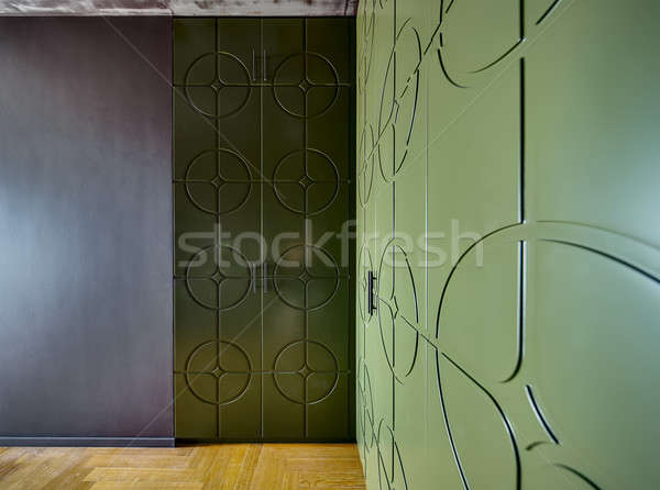 Green texture wardrobes Stock photo © bezikus