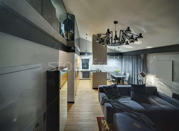 Interni stile moderno moderno sala Foto d'archivio © bezikus