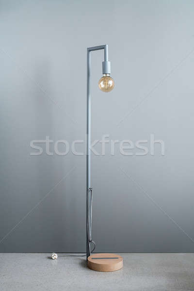Edison lamp with wooden pedestal Stock photo © bezikus