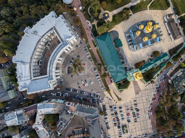Antenne foto stadsgezicht klooster ministerie buitenlands Stockfoto © bezikus