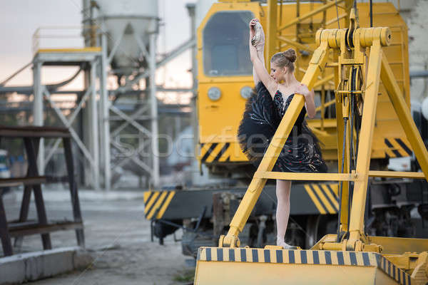 Ballerina on ladle Stock photo © bezikus