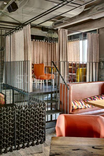 Mexican restauracje wnętrza metal schody Zdjęcia stock © bezikus