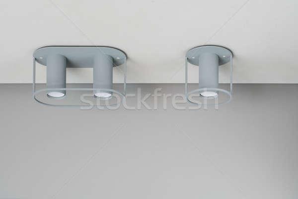 металл серый потолок два металлический Сток-фото © bezikus