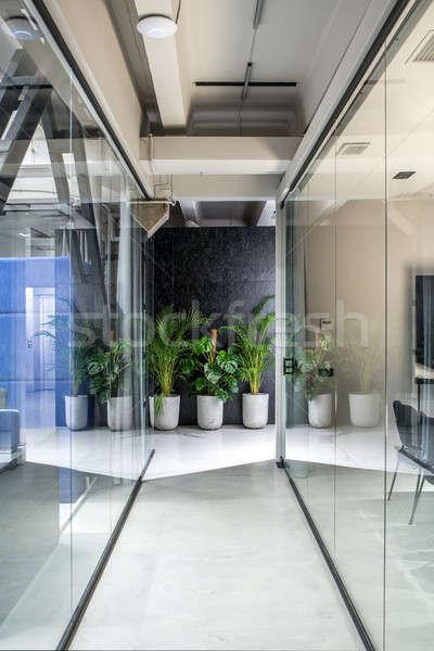 Stylish interior in loft style with luminous lamps Stock photo © bezikus