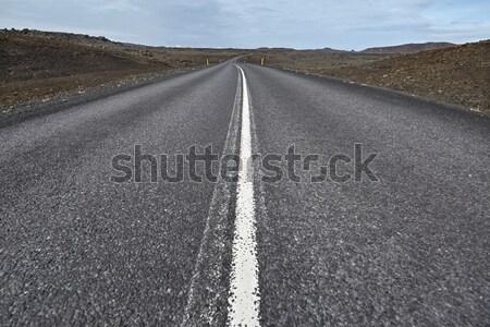 пейзаж стране дорога оранжевый Сток-фото © bezikus
