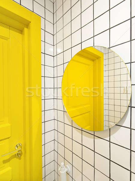 Vliering stijl toilet cafe betegelde Stockfoto © bezikus