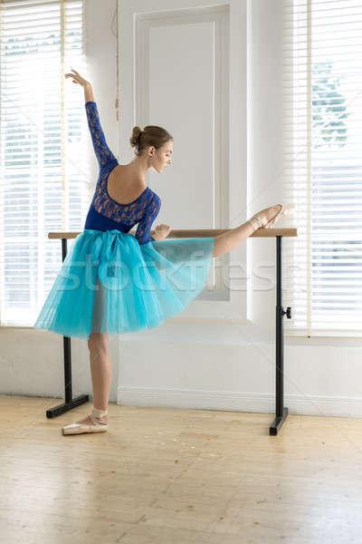 Stockfoto: Ballerina · opleiding · aantrekkelijk · ballet · been