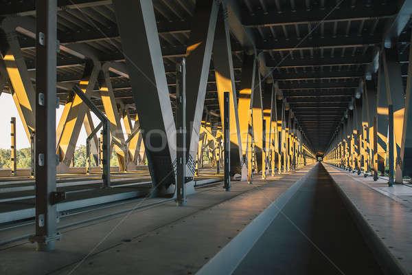Belső befejezetlen híd naplemente üzlet út Stock fotó © bezikus