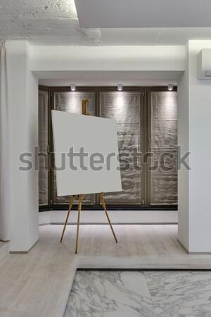 Interni stile moderno stanza bianco muri luce Foto d'archivio © bezikus