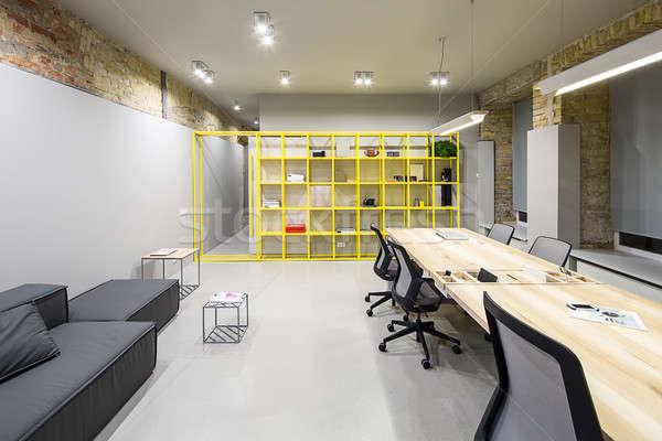 オフィス ロフト スタイル グレー レンガ 壁 ストックフォト © bezikus