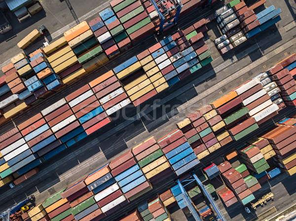 Warehouse with many containers Stock photo © bezikus