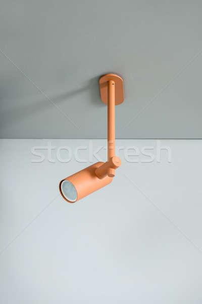 Metal orange lamp on ceiling Stock photo © bezikus