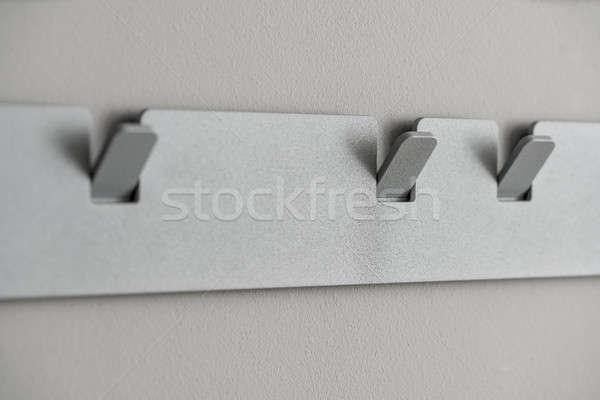 Metal gray hanger Stock photo © bezikus