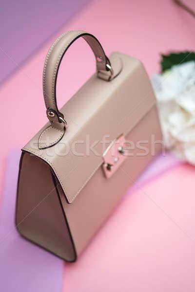 Female leather bag Stock photo © bezikus